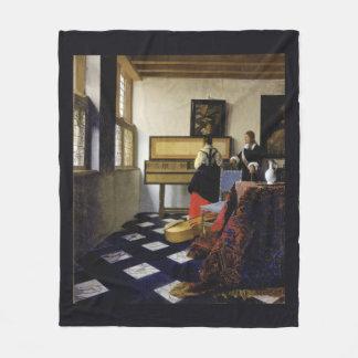 La leçon de musique par Johannes Vermeer Couverture Polaire