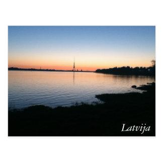 La Lettonie Carte Postale