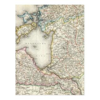 La Lettonie, Estonie Carte Postale