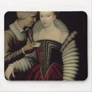 La lettre d'amour, Madame avec sa domestique Tapis De Souris