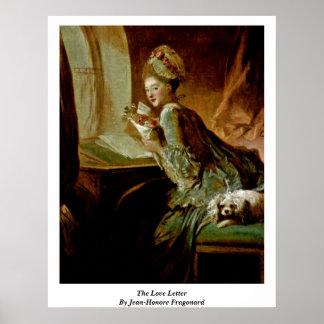 La lettre d'amour par Jean-Honore Fragonard Posters