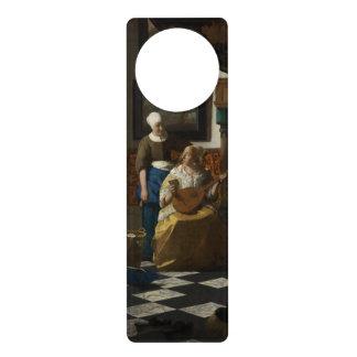 La lettre d'amour par Johannes Vermeer Cartons De Porte