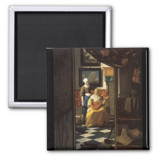 La lettre d'amour par Johannes Vermeer Aimants Pour Réfrigérateur