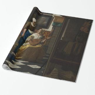 La lettre d'amour par Johannes Vermeer Papiers Cadeaux Noël