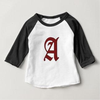 La lettre d'écarlate t-shirt pour bébé