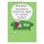 La lettre d'un chien à Père Noël Carte