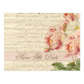 La lettre et les roses vintages français font gagn cartes postales