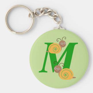 La lettre M Brian de monogramme l'escargot badine Porte-clés