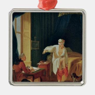 La levée de Voltaire chez Ferney, après 1759 Ornement Carré Argenté