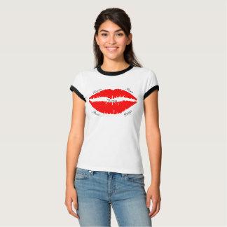 La lèvre embrasse Bisous Besos Baci Beijos T-shirt