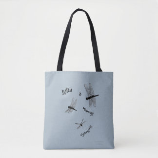 La libellule silhouette le sac fourre-tout