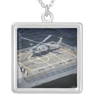 La liberté littorale d'USS de bateau de combat Pendentif Carré