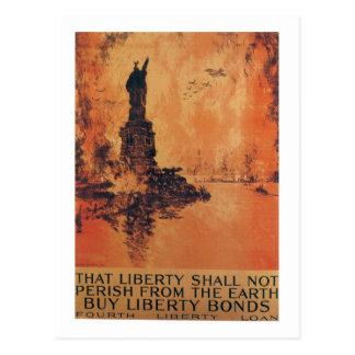 La liberté ne périra pas la guerre mondiale 2 carte postale