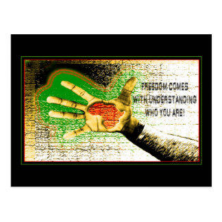 La liberté vient avec comprendre qui vous êtes carte postale