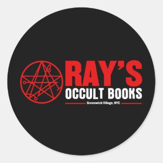 La librairie occulte du rayon autocollant rond