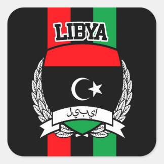 La Libye Sticker Carré