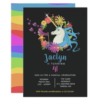 La licorne bouillonne invitation de fête