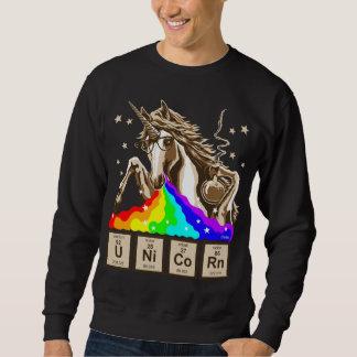 La licorne de chimie vomit l'arc-en-ciel sweatshirt