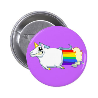 La licorne pète bouton badge