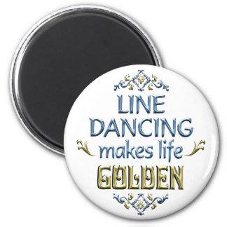La ligne danse est d'or aimant pour réfrigérateur