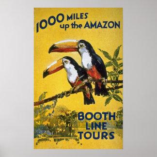 La ligne de cabine voyage 1000 milles vers le haut posters