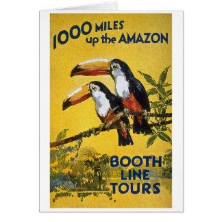 La ligne de cabine voyage 1.000 milles vers le carte de vœux