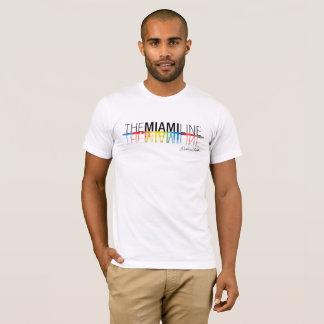 La ligne de Miami, hommes de T-shirt de Rockne