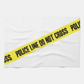 La ligne de police NE CROISENT PAS Linges De Cuisine