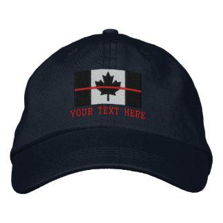La ligne rouge mince drapeau canadien le casquette brodée
