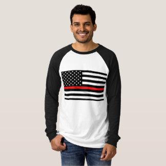 La ligne rouge mince du sapeur-pompier de soutien t-shirt