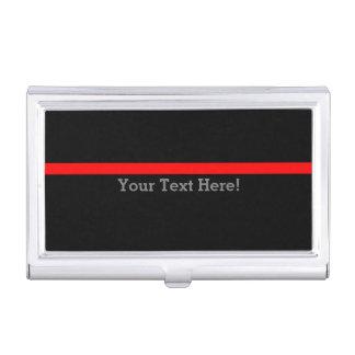 La ligne rouge mince symbolique personnalisent boîtier pour cartes de visite