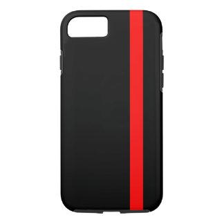 La ligne rouge mince symbolique sur le noir sur a coque iPhone 7