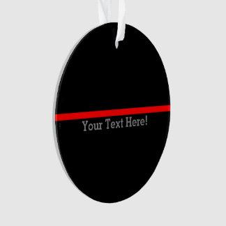 La ligne rouge mince symbolique votre texte sur le
