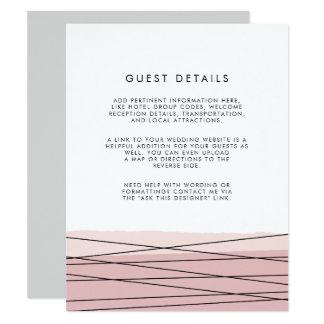 La linéation rougissent carte détail d'invité de