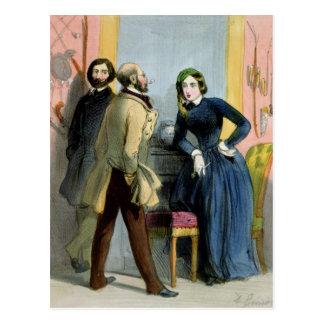 La lionne littéraire, de 'Femmes De Paris Carte Postale