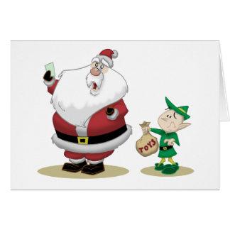 La liste courte de Père Noël Carte De Vœux