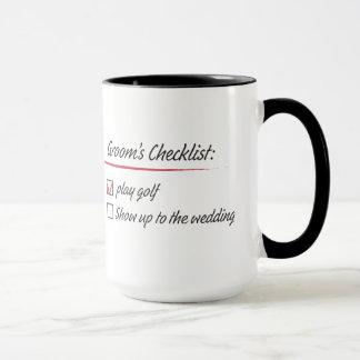 La liste de contrôle du marié mug