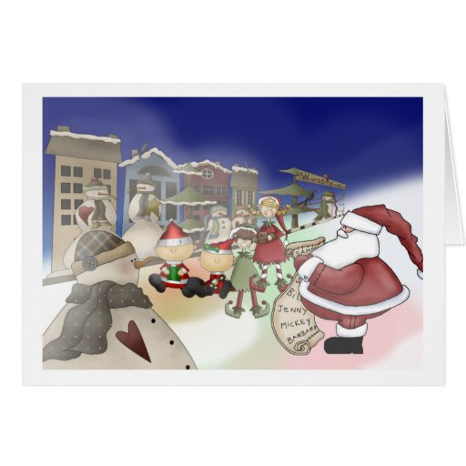 La liste de Père Noël Carte De Vœux