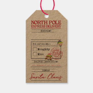 La livraison express de Pôle Nord - étiquette