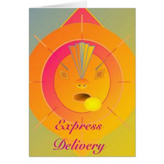 La livraison express - suivez vos rêves carte de vœux