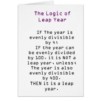 La logique de l'année bissextile carte de vœux