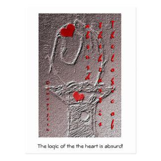 La logique du coeur est absurde carte postale