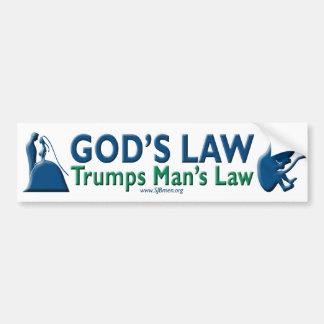 La loi de Dieu Trumps la loi de l'homme Autocollant De Voiture