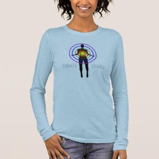 La Long-Douille noire T des femmes T-shirt À Manches Longues