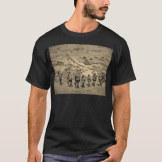 La longue file de la plage d'Omaha T-shirt