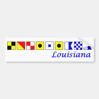 La Louisiane a orthographié dans l'alphabet Autocollant Pour Voiture