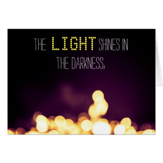 """""""La lumière brille des cartes dans obscurité"""""""