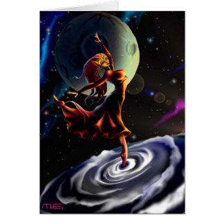 La Luna et Hélios d O Carte De Vœux