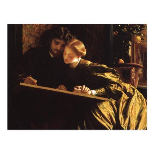 La lune de miel du peintre par Leighton, art victo Carte Postale