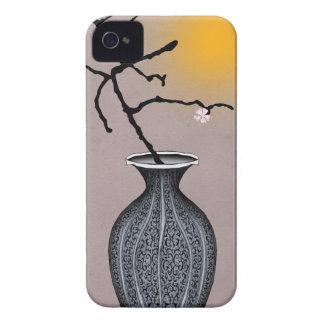 la lune élégante des fernandes et la fleur de 2 coque iPhone 4 Case-Mate